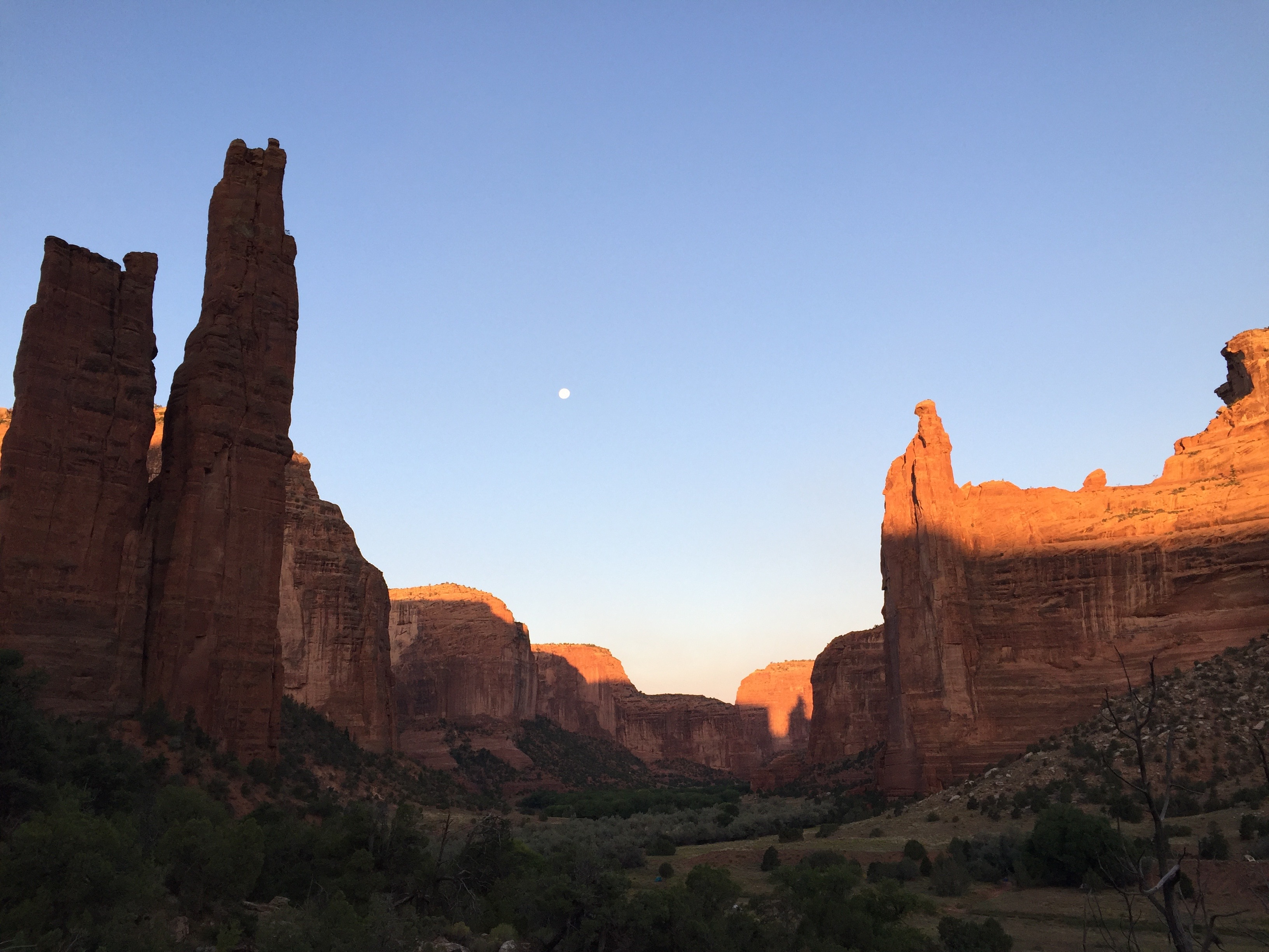 panorama of canyon de chelly